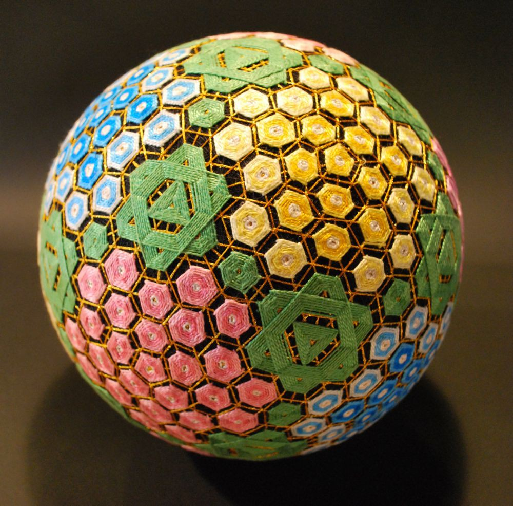 Темари своими руками из шариков