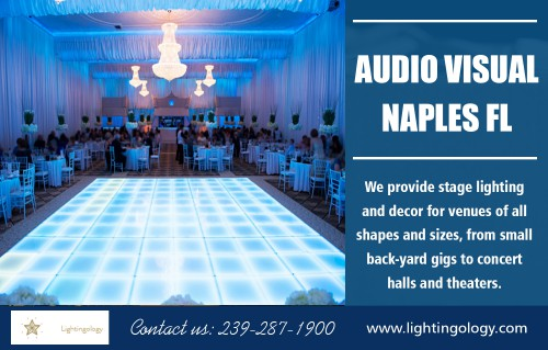Audio visual in Naples FL to make your big day truly memorable AT https://www.lightingology.com/ Find us on Goole Map : https://goo.gl/maps/KPoAWh6mkmr Audio visual in Naples fl is available for every kind of party function in your family, from elegant to simple. What you have to do is to select a canopy depending on your theme. In this regard, your rental provider will give you some suggestions. Select the canopies that are roomy enough. Ensure that all the things fit well within the canopy, such as tables, bar, chairs, dance floor, gifts, etc. Choose the sound according to your party theme.  Social :  https://promodj.com/djpartyrentals https://dzone.com/users/3546934/djpartyrentals.html http://digg.com/u/DJPartyrentals  ADDRESS — -Naples FL, 34102 Tel: 239–287–1900 Mail : lightingology@gmail.com