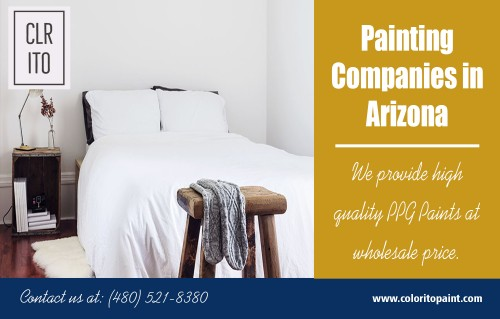 House painting in Phoenix painters for home interiors and exteriors at https://coloritopaint.com/  Service us  Arizona Exterior Painting Company	 Arizona painting painting companies in arizona painters arizona painter Arizona  Arizona painters	 painting Arizona   All newest designs, modern outlook and vibrant colors are well-researched to bring that sophisticated and simple look that customer asks for. Also, floral prints can be amalgamated if it's in demand. Moreover, house painting in Phoenix painters actively builds its standing purely on customer propensity. The company is trusted because of high-quality painting assignments that are carried out with professional artists. Therefore, the firm makes it sure that the paints provided suit the personality and taste of the customer.  Contact us  Address- 456 e Huber st Mesa , Arizona  85203 Call us: (480) 521-8380 Email us: Support@ColoritoPaint.com Message us on facebook: https://m.facebook.com/msg/Coloritopaint/  Social https://www.youtube.com/channel/UCDZvPbeIWTmEME-FhPIJ6nQ https://plus.google.com/u/0/110858778413452803125 https://www.instagram.com/arizonapainters/ https://www.twitch.tv/arizonapainters/videos/all https://onmogul.com/arizonapaintingcompany