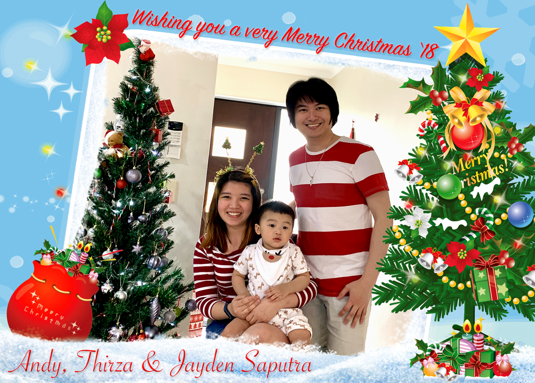 Merry Christmas 2018 from The Saputras