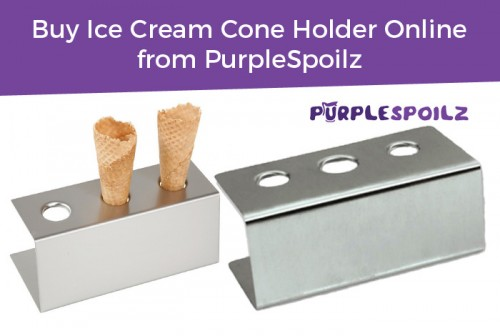 Shop high-quality stainless steel ice-cream cone holder online from PurpleSpoilz. This single row, 3-hole, rectangular ice cream cone holder comes with a 30-day money back guarantee. Order now! https://www.purplespoilz.com.au/new-ice-cream-cone-holder-icecream-stand-3-holes-rectangular-stainless-steel.html