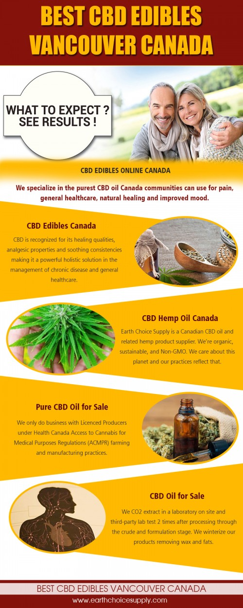 Nature's best and safest medicine CBD hemp oil in Canada at https://earthchoicesupply.com/collections/bio-plus-cbd-drops  Service us  best cbd edibles vancouver canada			 cbd edibles canada cbd edibles online canada  CBD hemp oil in Canada can give instant pain relief. People are dropping it into their nighttime tea, swallowing capsules, and loading it into their vape pens, claiming it relieves depression, masks chronic pain, and helps them sleep deeper. And although CBD oil is often derived from marijuana plants, it won't get you high—and it's not just potted users who are partaking.  Contact us  Address: 250 Yonge Street, Suite 2201, Toronto M5B2L7 , Canada phone: 416-922-7238 Email : info@earthchoicesupply.com  Social https://earthchoicesupply.netboard.me/cbdoilcanada/ https://deoctoteam.journoportfolio.com/ https://itsmyurls.com/earthchoicesupp http://www.allmyfaves.com/earthchoicesupply/ https://earthchoicesupply.contently.com/
