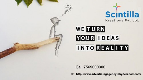 Scintilla Kreations is the best creative Advertising Agency in Hyderabad – Experts in Branding & Advertising Services- Creative Ad Film, Corporate Film Makers, corporate presentation video makers, documentary videos, branding solutions & Graphic Walkthrough Video makers in Hyderabad. • Visit our website: http://www.advertisingagencyinhyderabad.com/ • For more details call us: 9030006330 // reach us: #8-3-993, Plot No.7, Doyen Galaxy, 2nd Floor, Srinagar Colony, Hyderabad, Telangana 500073