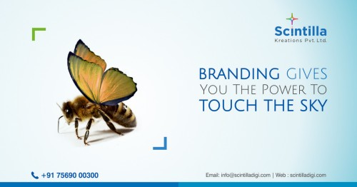Scintilla Kreations is the best branding agency in Hyderabad, India. We are the most committed ad agency, a trusted digital sensation and the best brand promotion company.  • We are providing best services Ad filmmaking, brand publicity, brand promotion, bus, and auto advertisement, graphic design services, hoarding advertisement, hoarding design, brochure design, logo design, etc.  • We are having a strong presence in Ad filmmaking, corporate films, corporate presentation video, documentary films, walkthrough filmmakers, advertising, TV commercial ads, Brand Promotion. • For more details call us: 9030006330 // reach us: #8-3-993, Plot No.7, Doyen Galaxy, 2nd Floor, Srinagar Colony, Hyderabad, Telangana 500073.