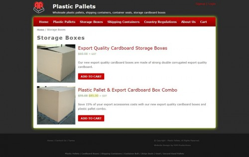 Export Quality Cardboard Storage Boxes. Our new export quality cardboard boxes are made of strong double corrugated export quality cardboard.  Visit us :-https://www.plasticpallets.com.au/store-category/storage-boxes/