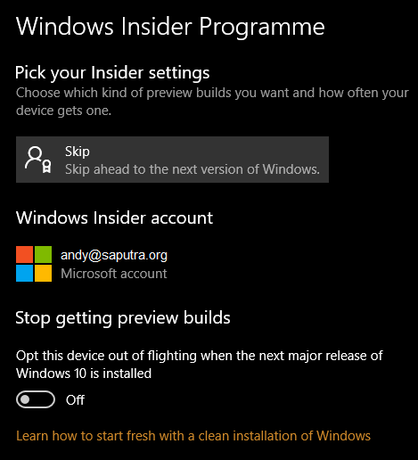 Windows Insider Programme
