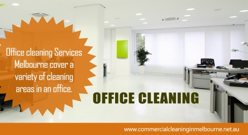 The changes in working times brought about by Office Cleaning means that there is greater need to position office cleaners as a professional service provider, so they receive the necessary respect from office staff and visitors, as well as represent the customer's business in a positive manger. As a result, new uniforms are often introduced to smarten up the image of the office cleaning staff to reflect the new high profile nature of the operation. Check Out The Website http://www.commercialcleaninginmelbourne.net.au/office-cleaning/ for more information on Office Cleaning.