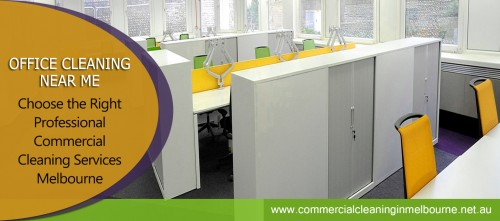 Hiring a professional and reliable Commercial Cleaning Near Me services provider in your locality to undertake cleaning activities is the best thing for business. Professional cleaning services not only keep the office premises clean and hygienic; they help create a work-friendly atmosphere and ambiance and raise productivity levels. A clean and sparkling office draws clients, builds your corporate identity, establishes your reputation and brings you more business. Browse this site http://www.commercialcleaninginmelbourne.net.au/ for more information on Commercial Cleaning Near Me.