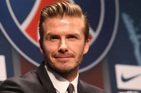The slicked-back David Beckham