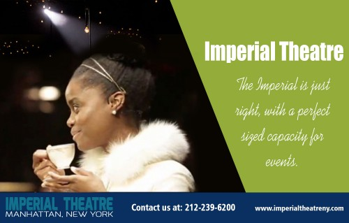Buy Your Imperial Theatre Tickets with Us at http://www.imperialtheatreny.com/  Find Us here ... https://goo.gl/maps/qyDqGMaJomp  Services  Imperial Theatre Imperial Theater NYC  Address-   249 West, 45th Street, Manhattan, New York City, NY 10036, United States General Information: 212-239-6200  Imperial Theatre is a popular broadway theatre situated in the heart of Manhattan, New York. It can accommodate a modest 1,417 guests per show. It is a popular location for musicals and theatrical performances throughout the year. Latest schedule of events for the Imperial Theatre in Manhattan, New York. View listings and purchase tickets for the upcoming events.  Social: http://www.alternion.com/users/imperialtheatre/ https://rumble.com/user/imperialtheatre/ http://www.cross.tv/profile/694103tv http://imperialtheatre.brandyourself.com/ https://list.ly/imperialtheatre/lists