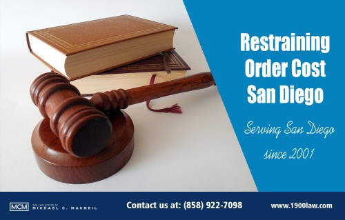 Restraining Order Cost San Diego (858) 922 7098