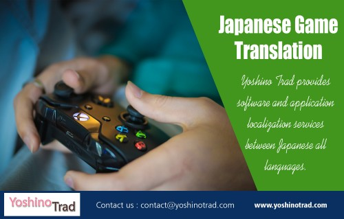 English to Japanese game translation Services - The Simple Method at http://www.yoshinotrad.com  service us  Japanese game localization Software localization Website translation services Japanese IT translation services  Localization of iPhone/iPad Apps Game Font Design Services  For more information about our services click below links:  http://www.yoshinotrad.com/multilingual-translation-services.php http://www.yoshinotrad.com/fields.php   I will share more information on how to find good Japanese game translation Services providers in a future article. For now, feel free to get in touch for more advice! However, if you find yourself in this predicament, entrusting in the expertise of a Japanese game translation service will prove to be invaluable to your business. Not only will you possess the tools necessary to communicate with your audience, but you will also be able to build on your leads, helping to push your business further through the rankings.  Contact Us:  Email: contact@yoshinotrad.com  social links:  https://twitter.com/Japanesegame2 https://www.instagram.com/japanesegame2/ https://pathbrite.com/Japanesegame2/profile http://www.alternion.com/users/Japanesegame2/ https://www.dailymotion.com/video/x6t6lso