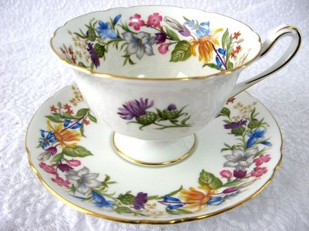 antiquesandteacups.com Shelley Cup And Saucer Spring Bouquet Gainsbocdefcda9134e205ee6c21b4a1a997dcc